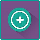 Vector plus web flat icon