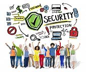 Ethnicity People Cheerful Winning Security Protection Concept