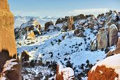 Devil's Garden In Arches National Park, Utah In Winter