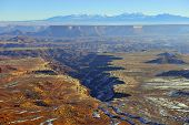 Green River Overlook In Canyonlands National Park, Utah In Winter