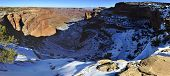 Panoramic View Of The Shafer Canyon In Canyonlands National Park, Utah In Winter