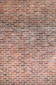 Brick wall of an external wall of an ancient building