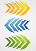 Abstract bright arrows. Vector background