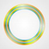 Bright circle logo background. Vector design