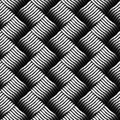 Seamless checked interlacing texture. Vector art.