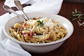 Pasta with meat tomato sauce