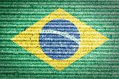 Brazil flag painted on a cardboard box