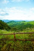 wooden fence in a mountain
