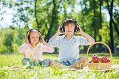 Children enjoying music