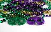 Mardi Gras Beads With Masks