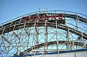 Coney Island Rollercoaster In Winter