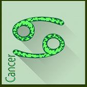 Cancer Zodiac sign vector illustration