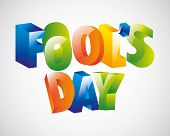 picture of fool  - fools day design - JPG