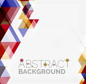 pic of color geometric shape  - Abstract geometric background - JPG