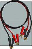 picture of crocodiles  - jumper cables with crocodile clips - JPG