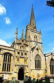 stock photo of church-of-england  - St John the Baptist church Burford Oxfordshire England UK Western Europe - JPG