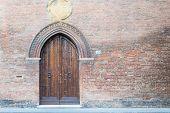 stock photo of ferrara  - Beautiful architecture in the downtown of Ferrara - JPG