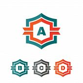 picture of letter b  - Abstract geometric monogram vector logo concept illustration - JPG