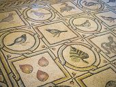 stock photo of ascension  - Ancient mosaic in Convent of the Ascension on Mount of Olives Jerusalem - JPG