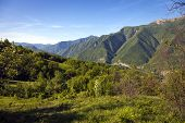 foto of apennines  - Panorama of the mountains around the Trebbia Valley - JPG
