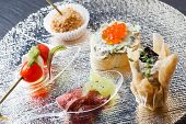 foto of canapes  - tasty canape - JPG