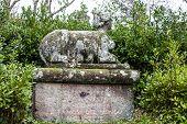 stock photo of ogre  - monster park in Bormazo built by the prince Orsini in Italy - JPG