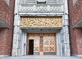 pic of nobel peace prize  - Osla City Hall in central Oslo Norway - JPG