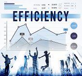 pic of efficiencies  - Efficiency Productivity Improvement Concept - JPG