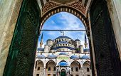 foto of constantinople  - View of the Blue Mosque  - JPG