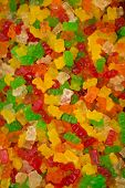 pic of gummy bear  - The colorful gummy bears on a background - JPG