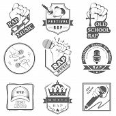 foto of battle  - Set of vector badges and stickers Hip Hop and Rap music - JPG