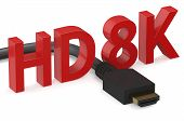 picture of megapixel  - HD 8K concept isolated on white background - JPG