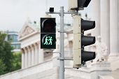picture of gay symbol  - Traffic light Vienna for more tolerance stoplight with same - JPG
