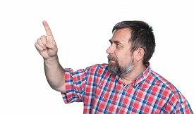stock photo of middle finger  - portrait of middle - JPG