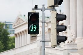 pic of homogeneous  - Traffic light Vienna for more tolerance stoplight with same - JPG