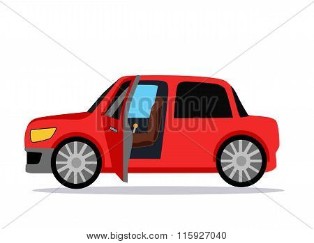 poster of Car Icon Flat