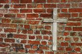 Cross On Church Wall