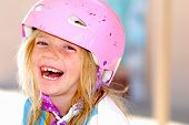 Laughing Girl In Safety Helmet