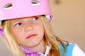 Cute Girl In Safety Helmet poster