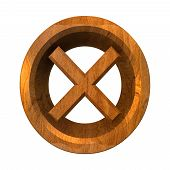 Ko Tick In Wood Isolated - 3D