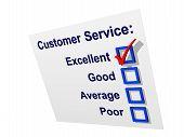 Servicio al cliente con excelente marcada