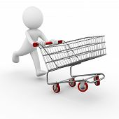 Man with a shopping cart / trolley