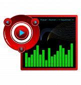 Illustration Web Template Music Player Skin