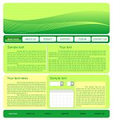 Illustration Of  Web Site Green Template