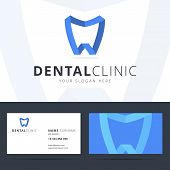 Постер, плакат: Logo and business card template for dental clinic