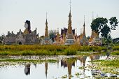 Buddhist Temple In Inle Lake,  Myanmar.
