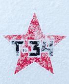 ������, ������: Russian T34 Soviet Star On Snow