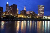 Blue Evening By Cuyahoga River