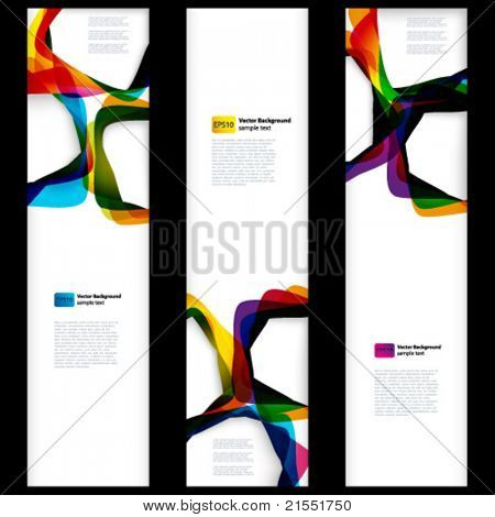 Abstract vertical banner with forms of empty frames for your web ...
