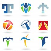 stock photo of letter t  - Vector illustration of abstract icons based on the letter T - JPG